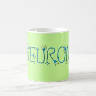 Neuron Mug - blue on green with violet border