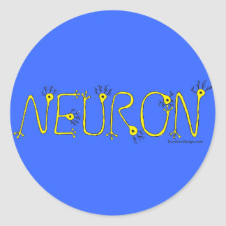 Neuron Sticker - Blue and Yellow