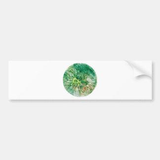 Neuron - Watercolor Green Bumper Sticker
