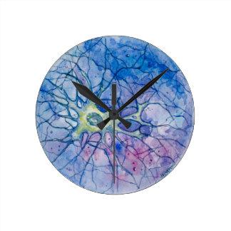 Neuron Watercolour Round Clock