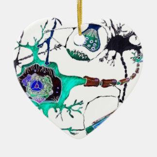 ¡Neurona! Adorno De Cerámica En Forma De Corazón