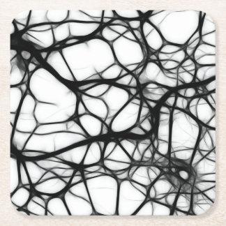 Neuronas Posavasos De Cartón Cuadrado