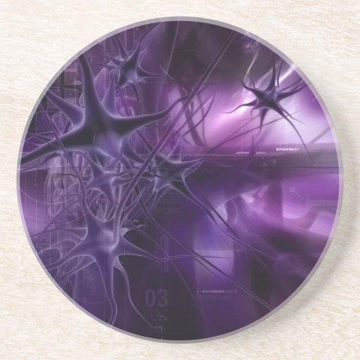 Neuronas púrpuras del cerebro posavasos manualidades