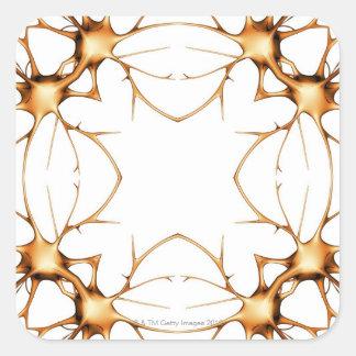 Neurons 2 square sticker