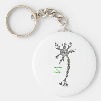 Neurons Are Plastic! Basic Round Button Keychain