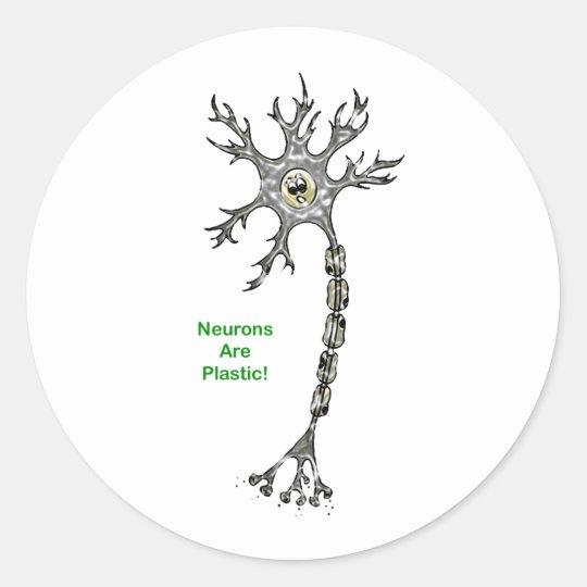 Neurons Are Plastic! Classic Round Sticker