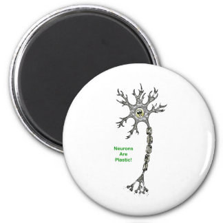 Neurons Are Plastic! 2 Inch Round Magnet