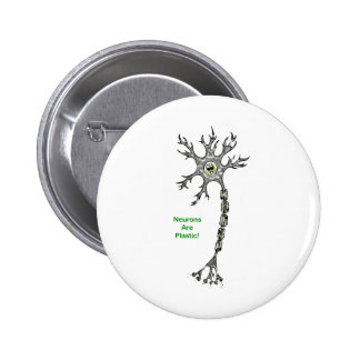 Neurons Are Plastic! Pinback Button