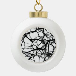 Neurons Ceramic Ball Christmas Ornament
