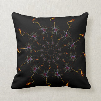 Neurons circle throw pillow