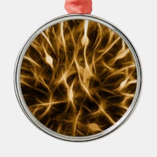 Neurons Metal Ornament