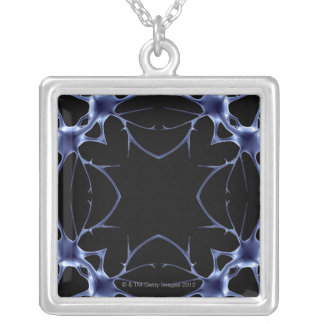 Neurons Silver Plated Necklace