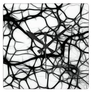 Neurons Square Wall Clock
