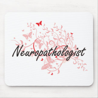 Neuropathologist Artistic Job Design with Butterfl Mouse Pad