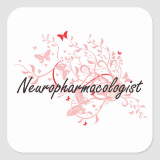 Neuropharmacologist Artistic Job Design with Butte Square Sticker