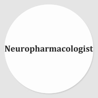 neuropharmacologist classic round sticker