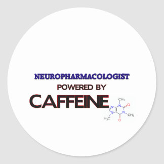 Neuropharmacologist Powered by caffeine Classic Round Sticker