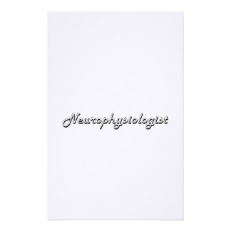 Neurophysiologist Classic Job Design Stationery