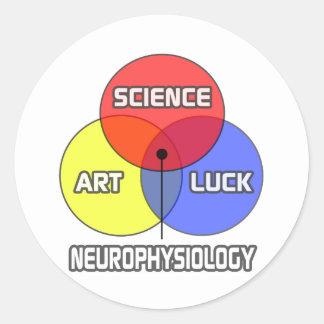 Neurophysiology .. Science Art Luck Classic Round Sticker