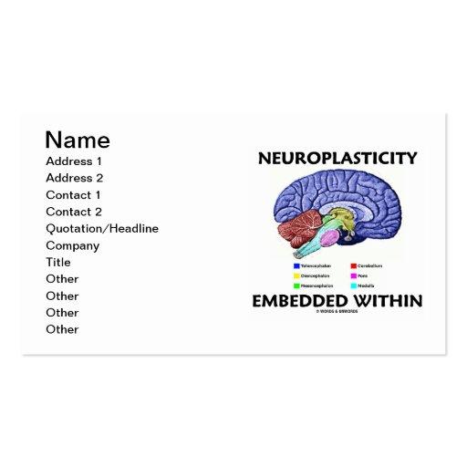 Neuroplasticity encajó dentro (la anatomía del cer plantillas de tarjeta de negocio