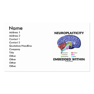 Neuroplasticity encajó dentro (la anatomía del cer tarjeta de negocio