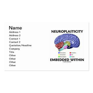 Neuroplasticity encajó dentro (la anatomía del tarjetas de visita