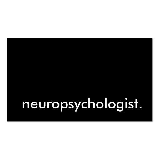 neuropsychologist. business cards