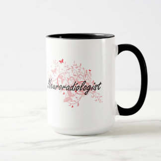 Neuroradiologist Artistic Job Design with Butterfl Mug