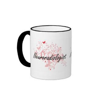 Neuroradiologist Artistic Job Design with Butterfl Ringer Mug