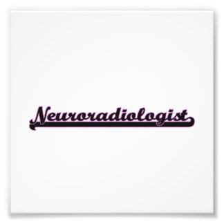 Neuroradiologist Classic Job Design Photo Print