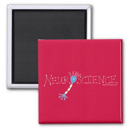 Neuroscience Magnet - white on red