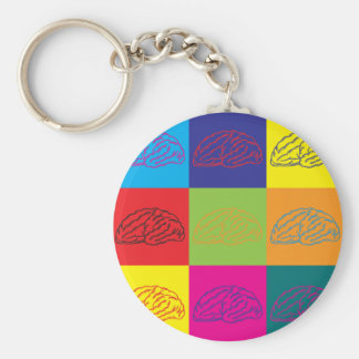 Neuroscience Pop Art Keychain