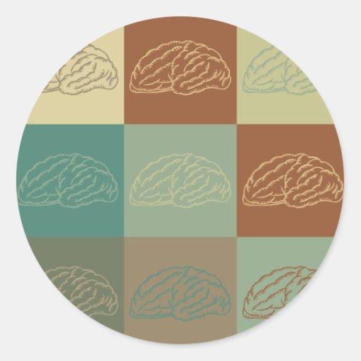 Neuroscience Pop Art Stickers
