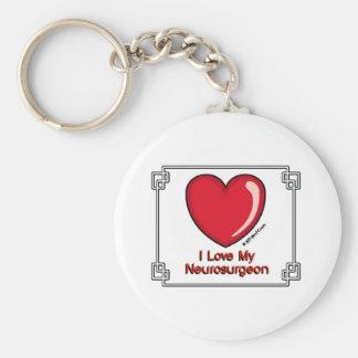 Neurosurgeon Basic Round Button Keychain