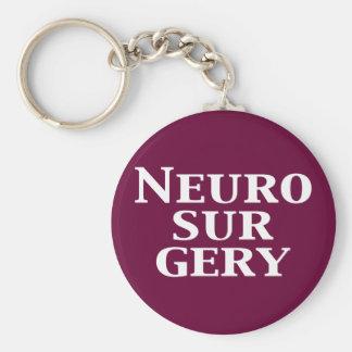 Neurosurgery Gifts Basic Round Button Keychain