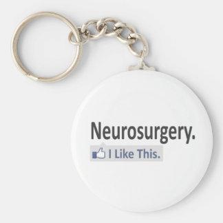 Neurosurgery ... I Like This Basic Round Button Keychain
