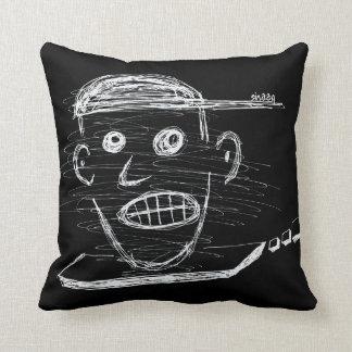 Neurotic Face Unique Throw Pillow