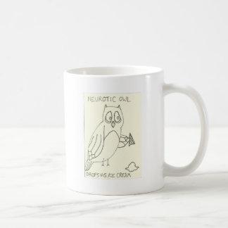 Neurotic Owl Drops his Ice Cream Coffee Mug