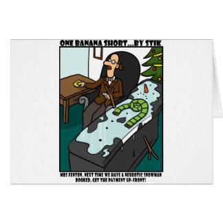 Neurotic Snowman Card