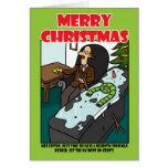 Neurotic Snowman Greeting Card