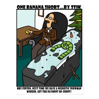 Neurotic Snowman Postcards