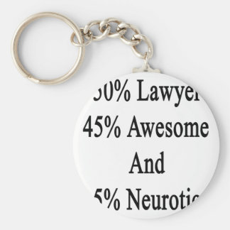 Neurótico 45 impresionante y 5 abogado de 50 llavero redondo tipo pin