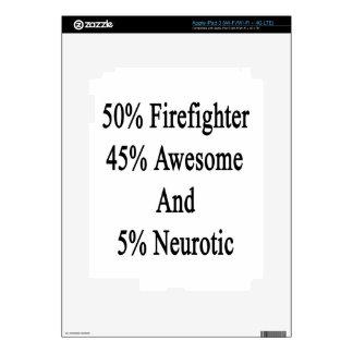 Neurótico 45 impresionante y 5 bombero de 50 iPad 3 pegatinas skins