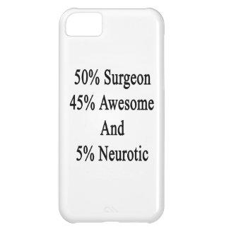 Neurótico 45 impresionante y 5 cirujano de 50 funda para iPhone 5C