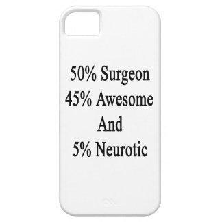 Neurótico 45 impresionante y 5 cirujano de 50 funda para iPhone SE/5/5s