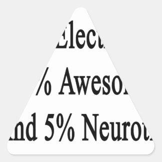 Neurótico 45 impresionante y 5 electricista de 50 pegatina triangular