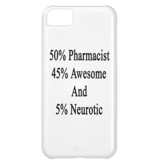 Neurótico 45 impresionante y 5 farmacéutico de 50 funda para iPhone 5C