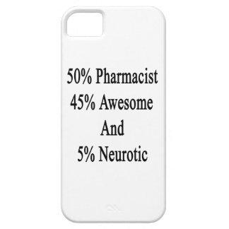 Neurótico 45 impresionante y 5 farmacéutico de 50 funda para iPhone SE/5/5s