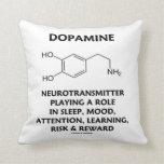 Neurotransmisor de la dopamina (molécula química) cojin