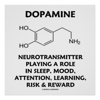 Neurotransmisor de la dopamina (molécula química) póster